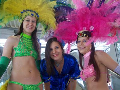 tropische ontvangst dames